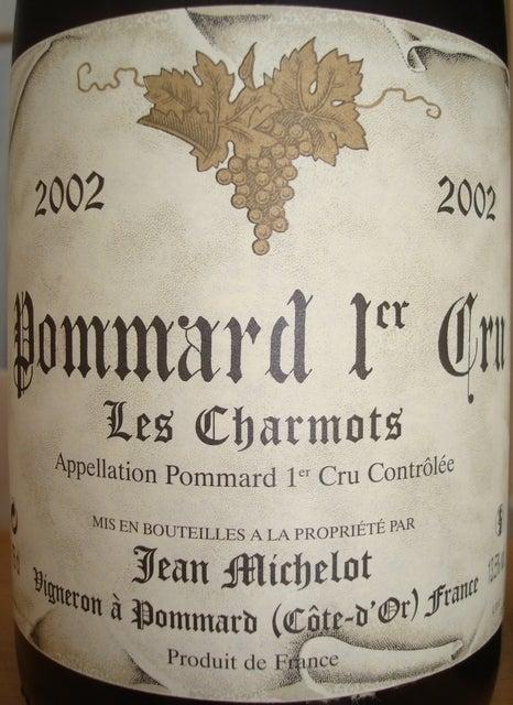 Pommard 1er Cru Les Charmots Jean Michelot 2002