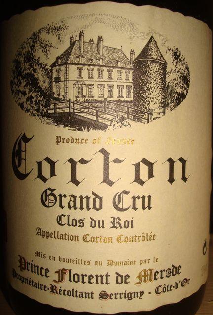 Corton Clos Du Roi Prince Florent de Merode 1999