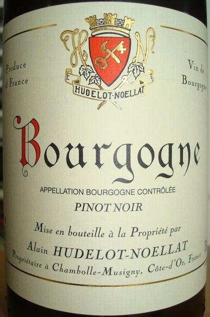 Bourgogne Pinot Noir Alain Hudelot Noellat 2009