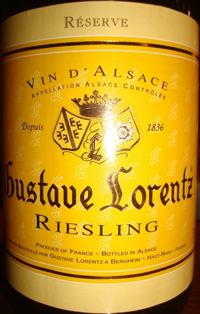 Alsace Gustave Lorentz Riesling 2010