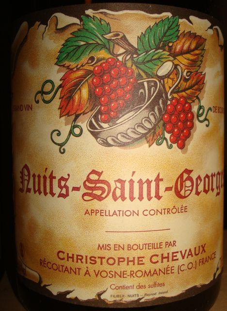 Nuits Saint George Christophe Chevaux 2008