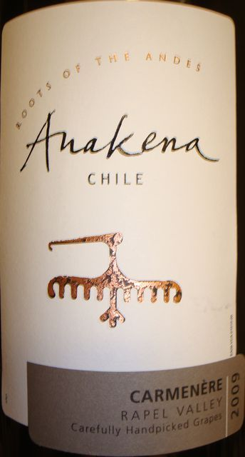 Anakena Rapel Valley Carmenere 2009