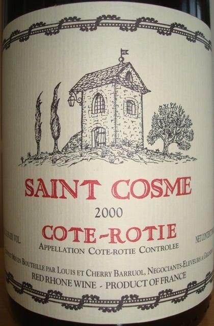 Cote Rotie Saint Cosme 2000