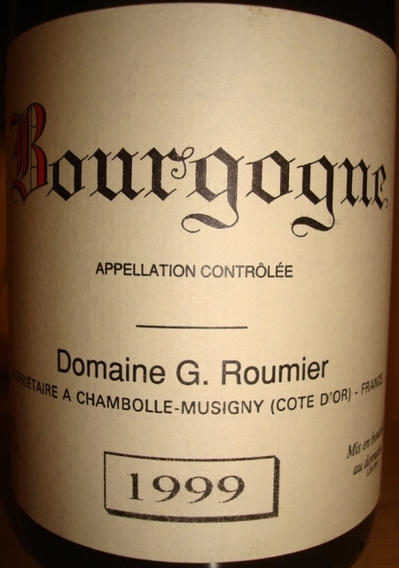 Bourgogne Damaine G Roumier 1999