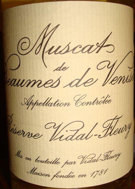 Muscat de Beaumes de Venise Reserve Vidal Fleury