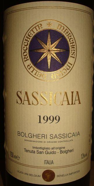Sassicaia Tenuta San Guido Bolgheri 1999