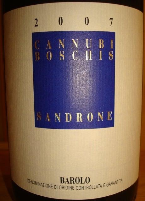 Barolo Cannubi Boschis Sandrone 2007