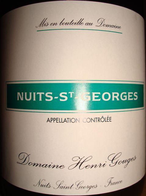 Nuits St Georges Henri Gouges 2007