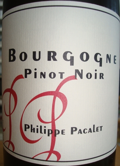 Bourgogne Pinot Noir Philippe Pacalet 2010 No1