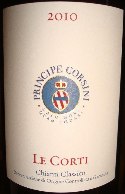 Principe Corsini Le Corti Chanti Classico 2010
