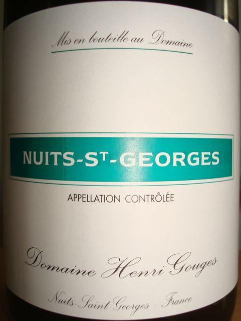 Nuits St Georges Henri Gouges 2006