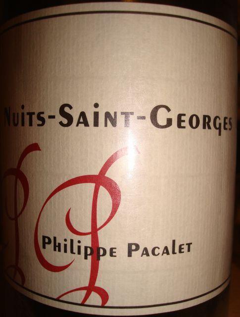 Nuits Saint Georges Philippe Pacalet 2006 Part1