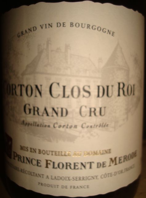 Corton Clos Du Roi Prince Florent de Merode 2008