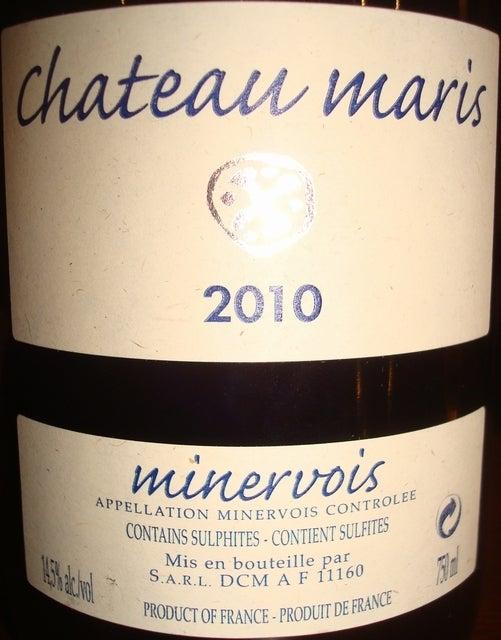 Chateau maris minervois 2010