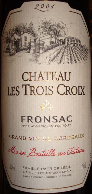 Chateau Les Trois Croix 2001
