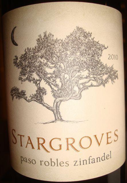 Stargroves Paso Robles zinfandel 2010