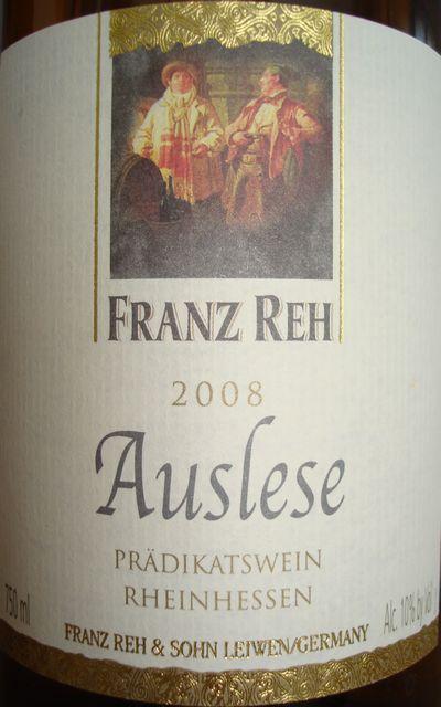 Franz Reh Rheinhessen Auslese 2008