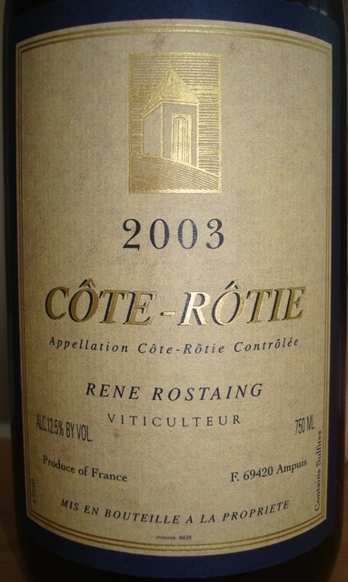 Cote Rotie Rene Rostaing Viticulteur 2003