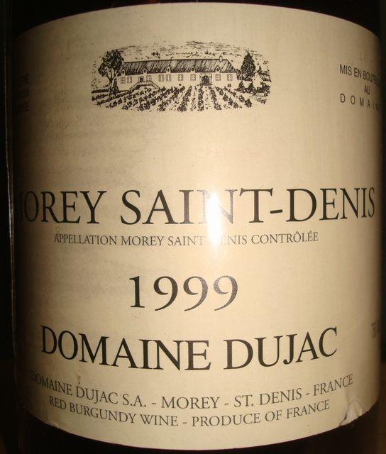 Morey Saint Denis Domaine Dujac 1999