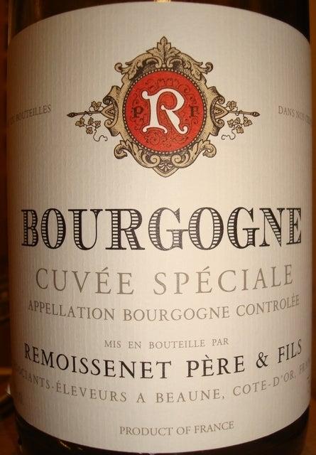 Bourgogne Cuvee Speciale Remoissenet 1999