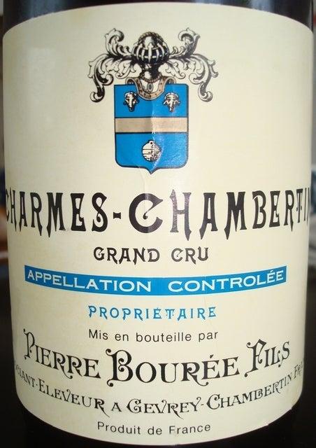 Charmes Chambertin Pierre Bouree Fils 1999