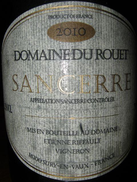 Sancerre Domaine Du Rouet 2010