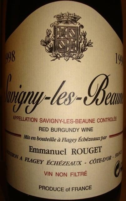 Savigny les Beaune Emmanuel Rouget 1998