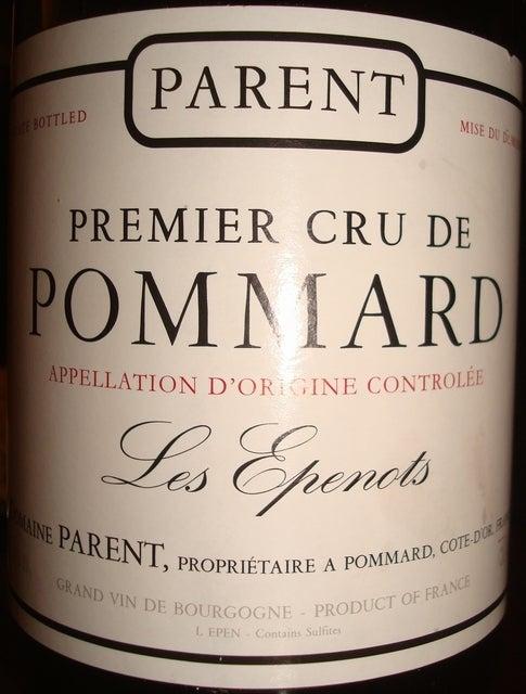 Premier Cru de Pommard Les Epenots Parent 1999