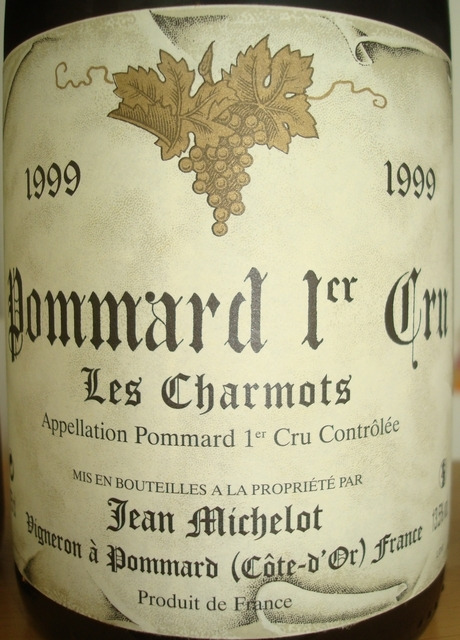 Pommard 1er Cru Les Charmots Jean Michelot 1999