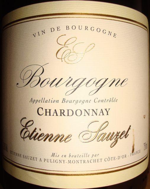 Bourgogne Chardonnay Etienne Sauzet 2007