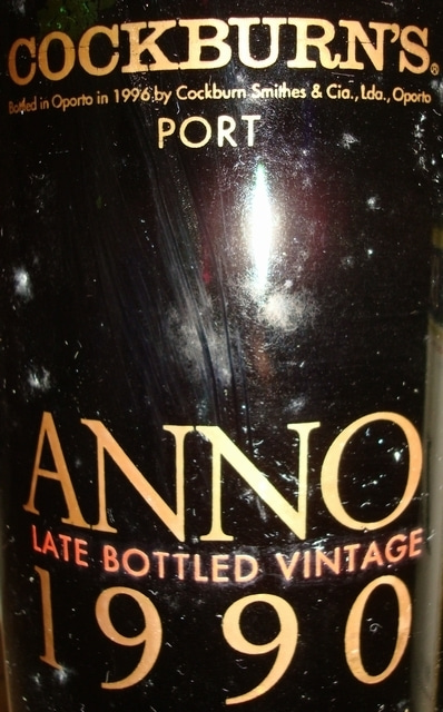 Anno Late Bottled Vintage Cockburns Port 1990