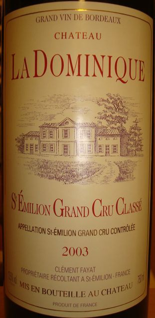 Chateau La Dominique 2003