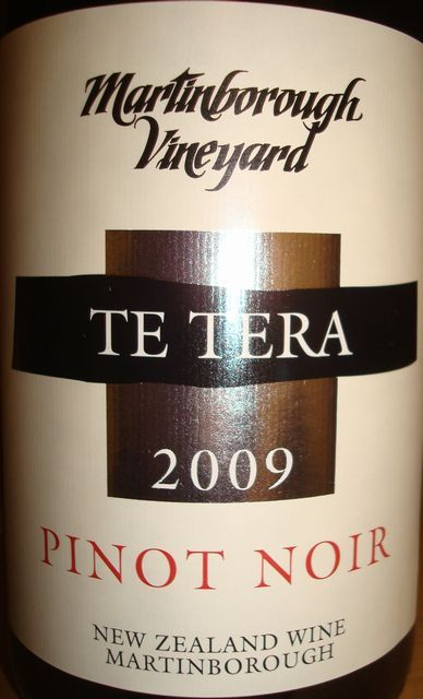 Martinborough Vineyard TE TERA Pinot Noir 2009