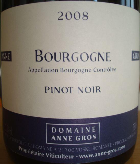 Bourgogne Domaine Anne Gros 2008