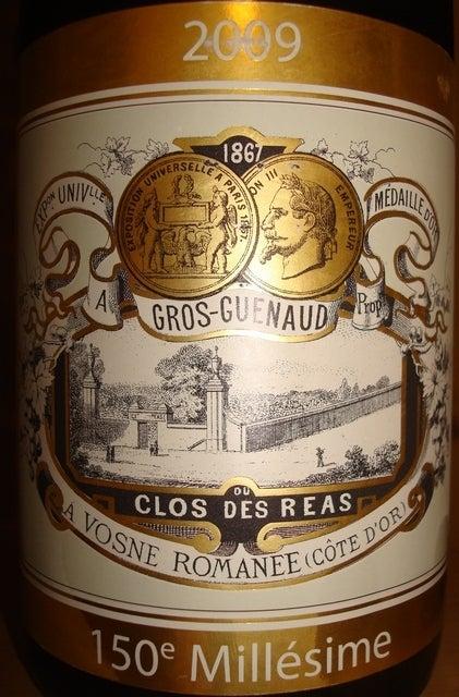 Vosne Romanee Clos Des Reas Gros Guenaud 2009