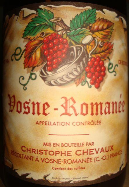 Vosne Romanee Christophe Chevaux 2009