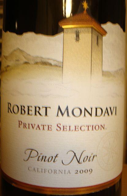 Robert Mondavi Private Selection Pinot Noir 2009