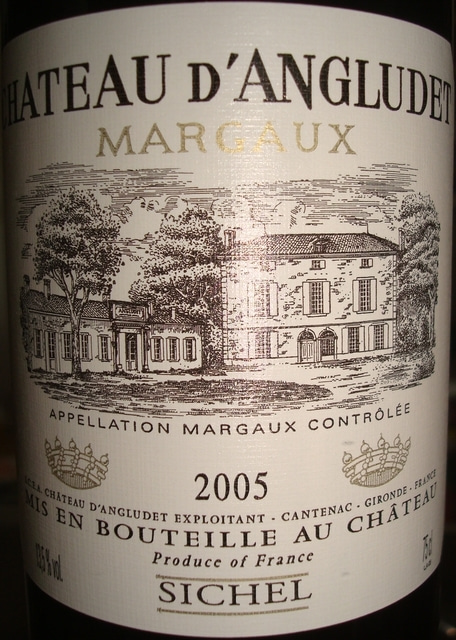 Chateau D'Angludet 2005
