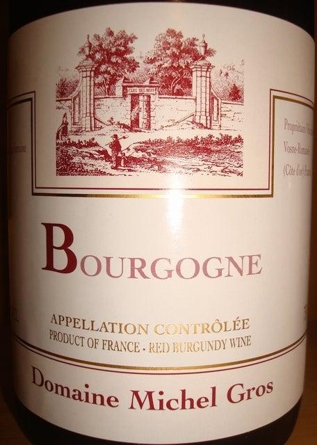 Bourgogne Domaine Michel Gros 2009