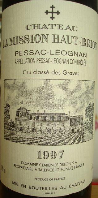 Chateau La Mission Haut Brion 1997
