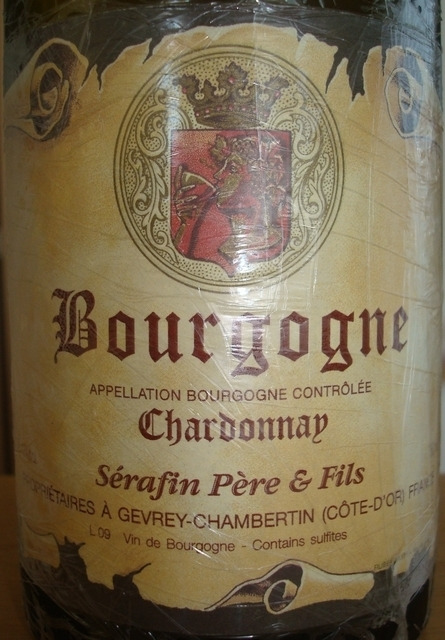 Bourgogne Chardonnay Serafin Pere Fils 2005