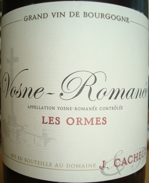 Vosne Romanee Les Ormes J Cacheux 2009