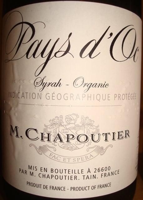 Pays dOc Syrah Organic M Chapoutier