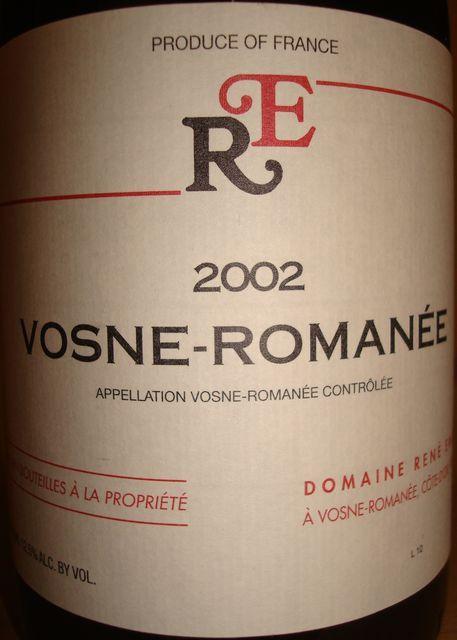 Vosne Romanee Rene Engel 2002