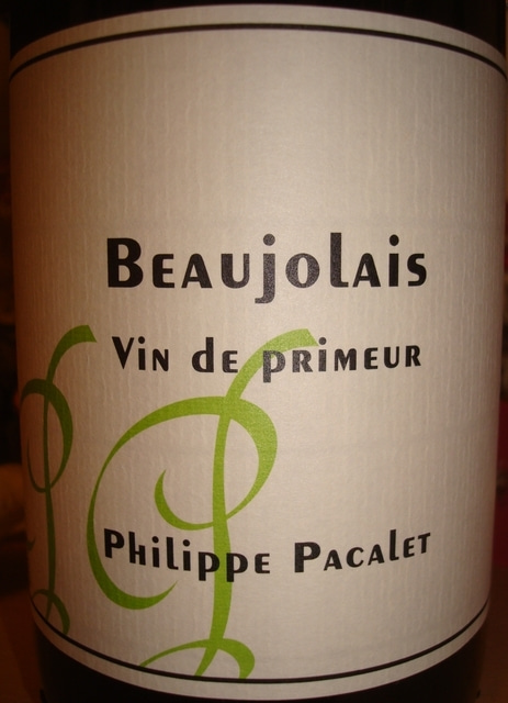Beaujolais Vin de Primeur Philippe Pacalet 2012