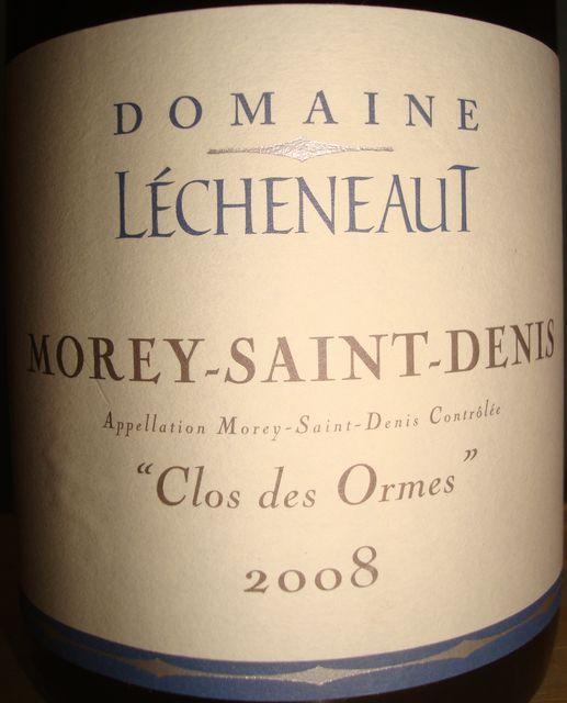 Morey Saint Denis Clos des Ormes 2008 Lecheneaut