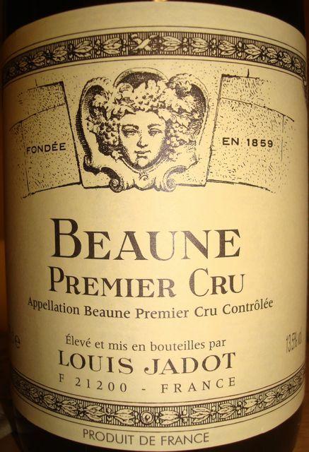Beaune Premier Cru Louis Jadot 1999.jpg
