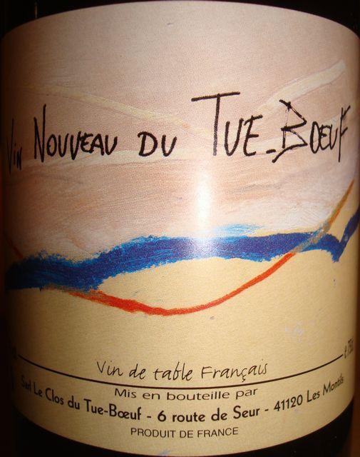Vin Nouveau Du Tue Boeuf 2010