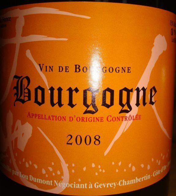 Bourgogne Lou Dumont 2008