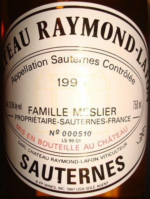 Chateau Raymond Lafon 1999